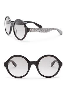 Kate Spade khrista 52mm round sunglasses