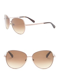 Kate Spade 58mm Candis Aviator Sunglasses
