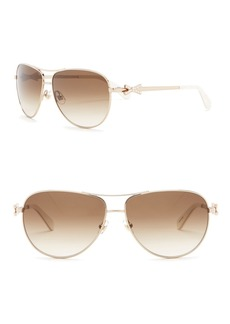 Kate Spade 59mm Circe Aviator Sunglasses
