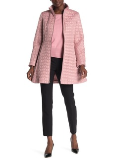 Kate Spade a-line bow quilted coat