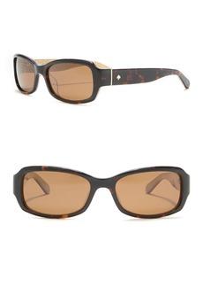Kate Spade adely 53mm rectangular polarized sunglasses