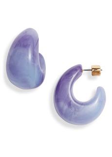 Kate Spade adore-ables huggie hoop earrings