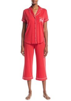 Kate Spade all dolled up cropped pajama set