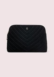 Kate Spade amelia velvet medium cosmetic case