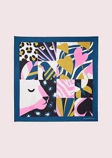 Kate Spade animal faces silk square