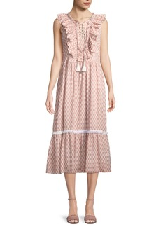Kate Spade arrow stripe dress w/ lace-up front