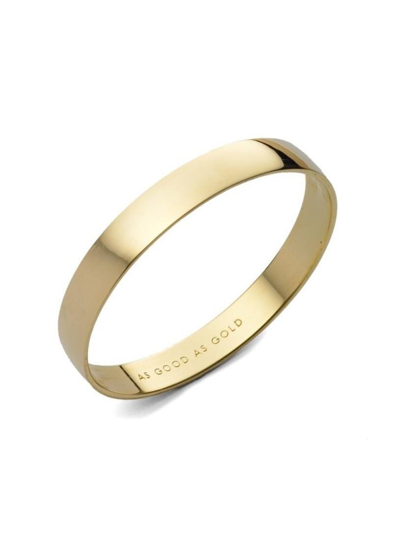 As Good Gold Engraved Idiom Bangle Bracelet Kate Spade