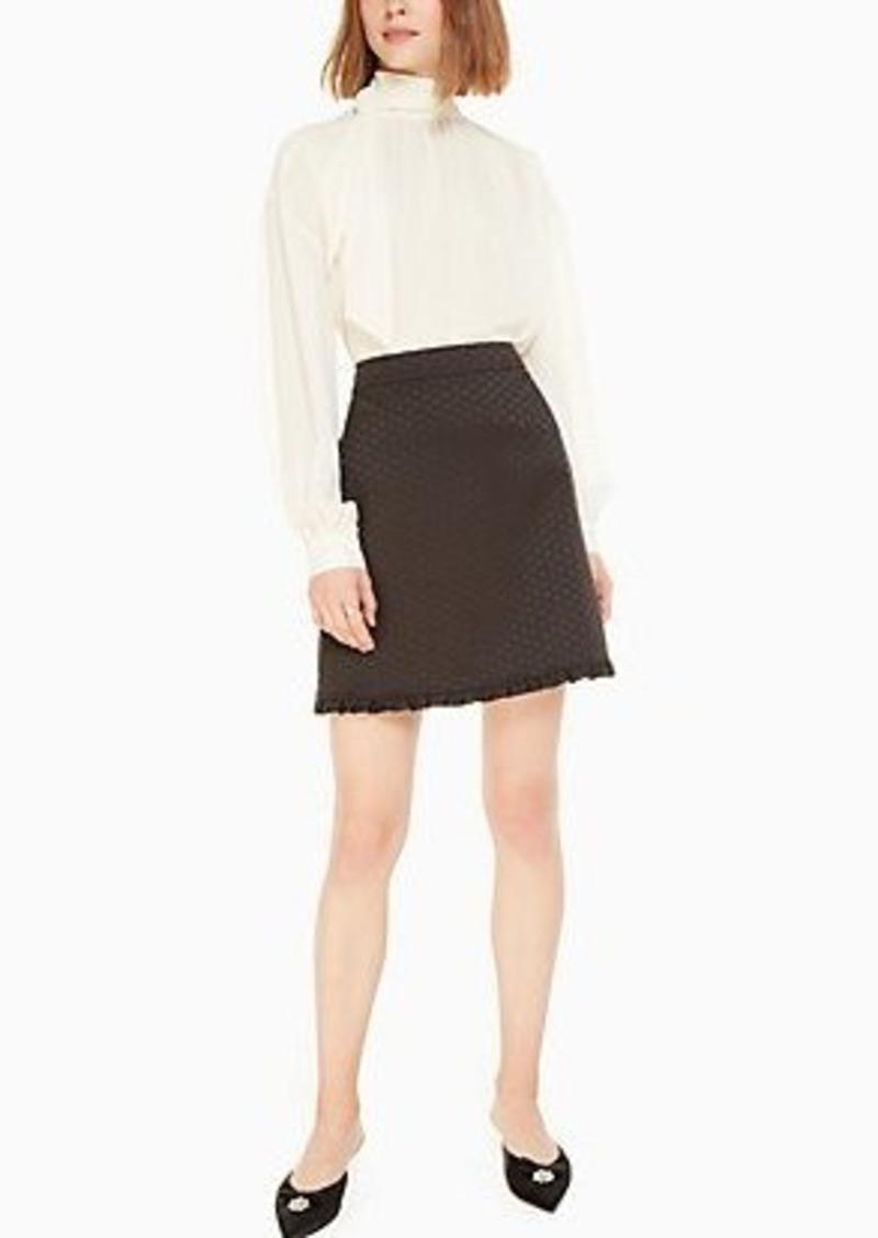 Kate Spade bakery dot jacquard skirt