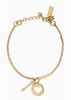 Kate Spade be mine cluster charm bracelet