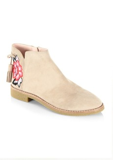 Kate Spade Bellville Embroidered Suede Boots