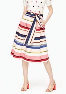 Kate Spade berber stripe midi skirt