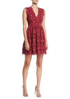 Kate Spade bicolor sleeveless lace dress