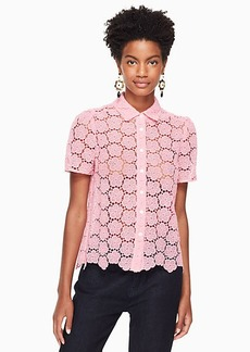 Kate Spade bloom flower lace top