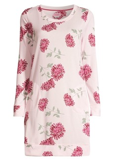 Kate Spade Blooming Print Brushed Sleep Shirt