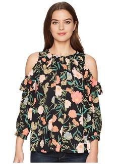 Kate Spade Blossom Cold Shoulder Top