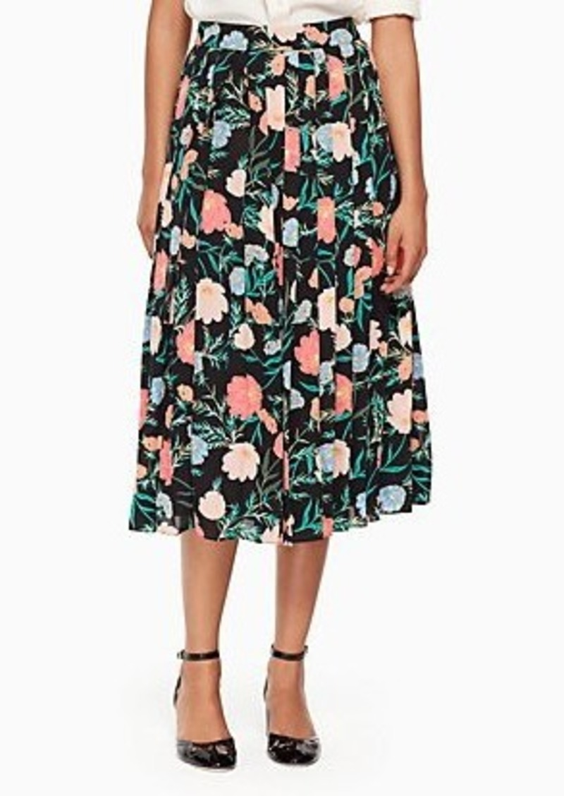 Kate Spade blossom pleated skirt