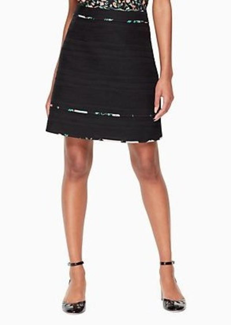 Kate Spade blossom trim tweed skirt