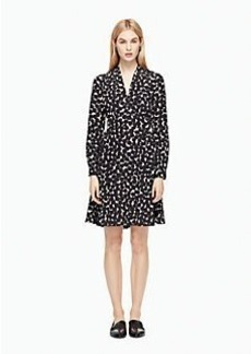 blot dot v-neck dress