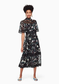Kate Spade botanical chiffon midi dress
