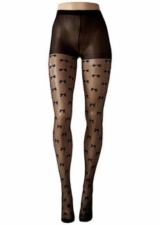 Kate Spade Bow Fishnet Sheer Tights