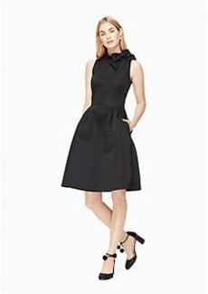 bow fit and flare dress