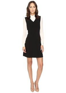 Kate Spade Bow Tie Crepe A-Line Dress