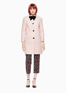 Kate Spade bow tweed coat