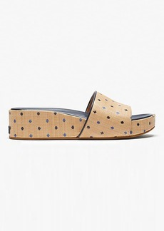 Kate Spade Breeze Raffia Platform Slide Sandals