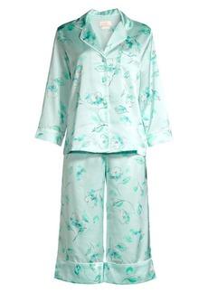 Kate Spade Bridal Floral Capri Pajama Set
