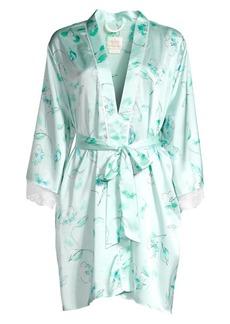 Kate Spade Bridal Floral Lace Trim Robe