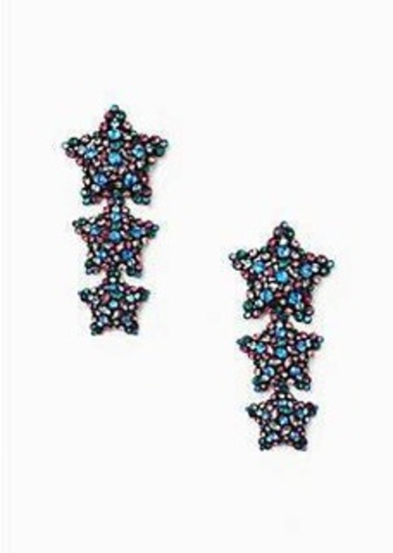 tassel prettylittlething blue bright knotted earrings usa