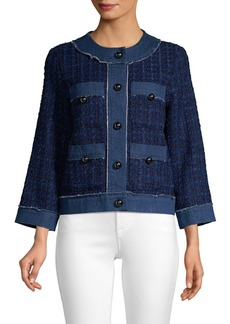 Kate Spade Broome Street Denim Tweed Jacket
