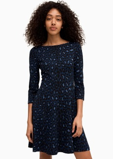Kate Spade broome street leopard ponte dress