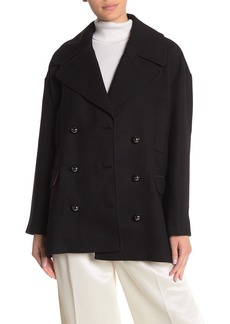 Kate Spade broome street modern wool blend peacoat