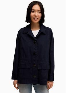 Kate Spade Broome Street Ruffle Military Jacket