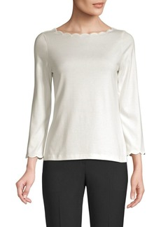 Kate Spade Broome Street Scallop Cotton Tee