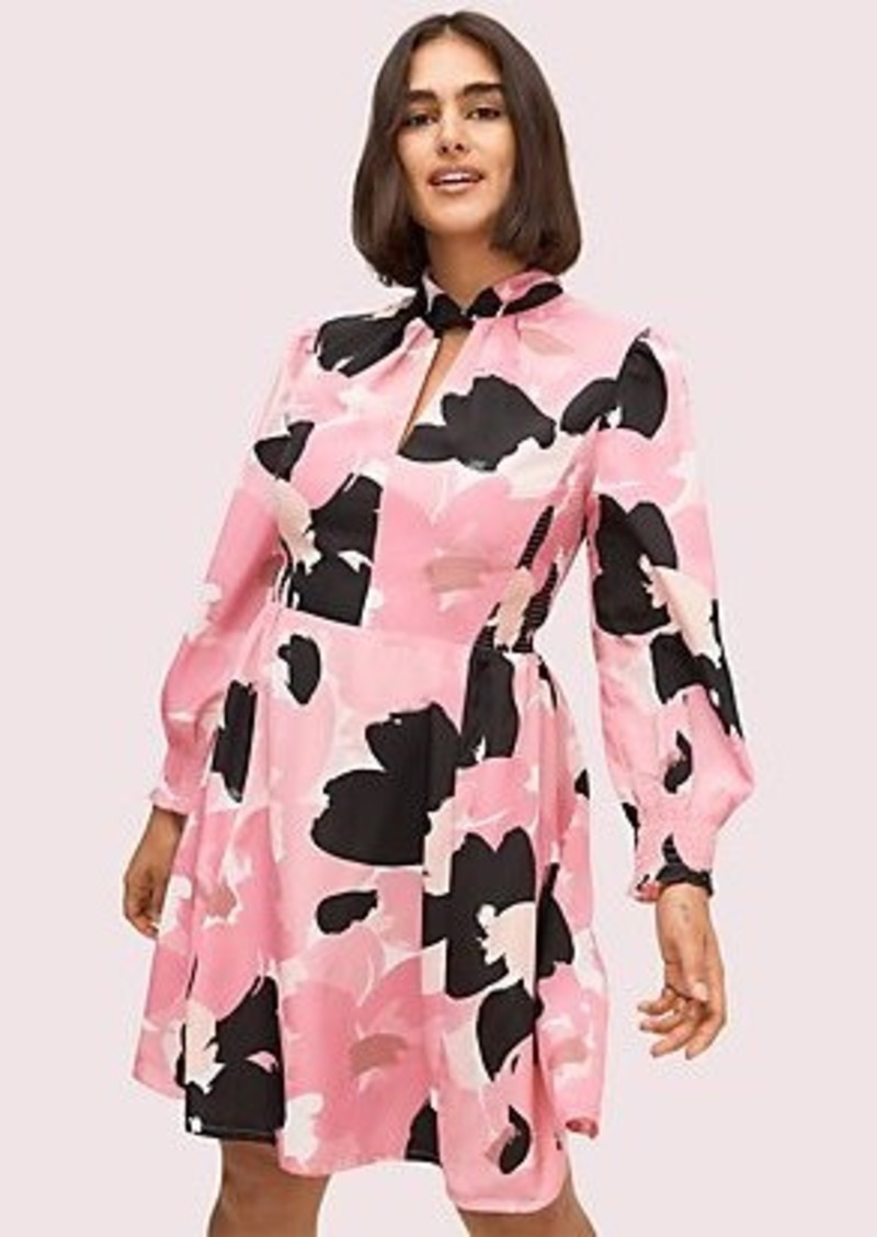 Kate Spade brush bloom smocked dress