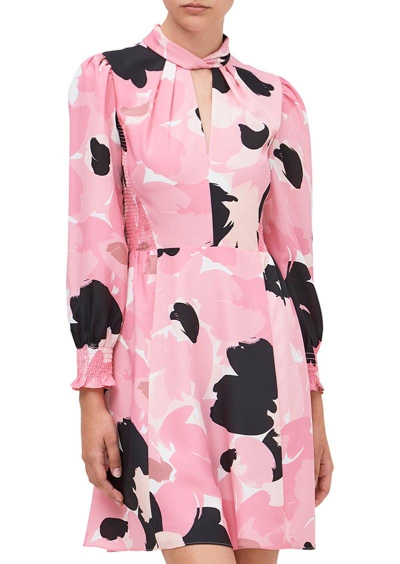 Kate Spade brushed bloom smocked dress