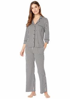 Kate Spade Brushed Jersey Long Pajama Set