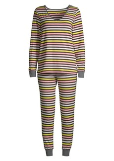 Kate Spade Brushed Jersey Long Pajamas
