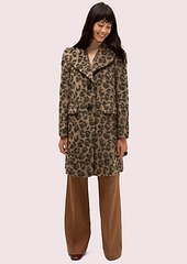 Kate Spade brushed leopard coat