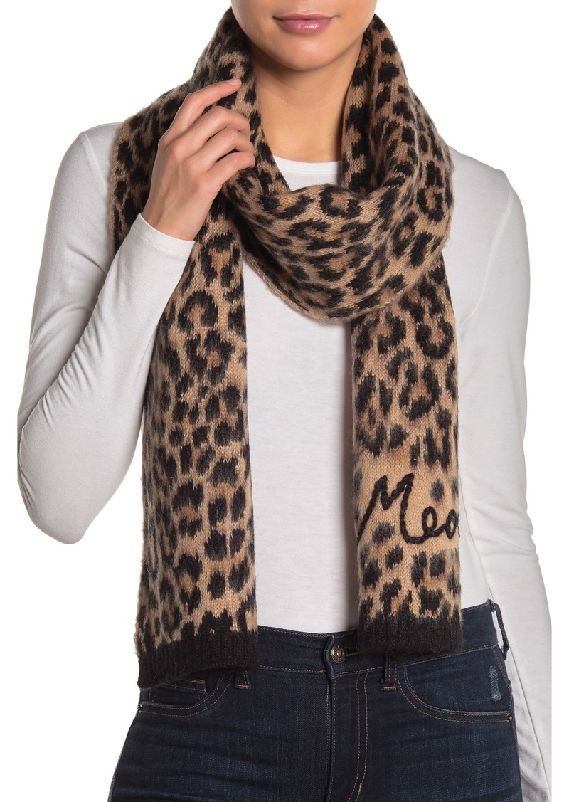 Kate Spade brushed leopard meow scarf