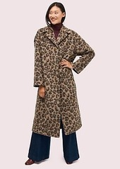 Kate Spade brushed leopard overcoat