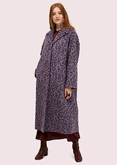 Kate Spade brushed leopard overcoat