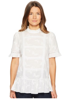 Kate Spade Butterfly Clipped Flounce Top