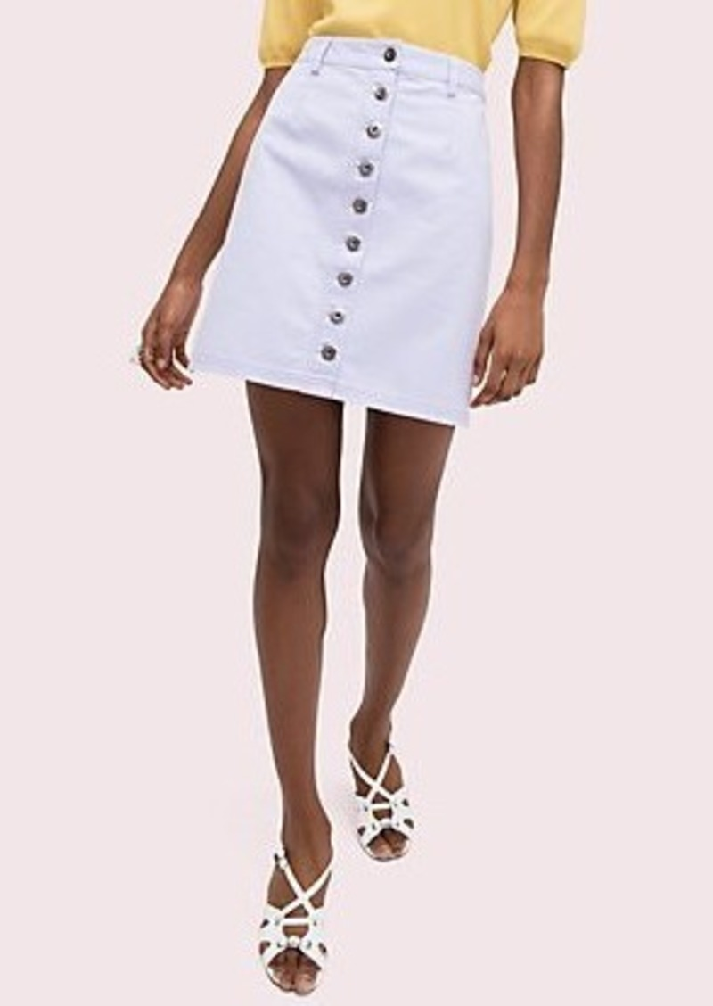 Kate Spade button front mini skirt