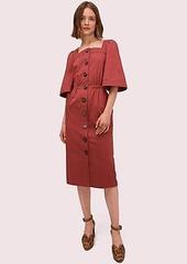 Kate Spade button front sateen dress