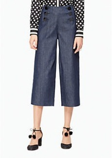 Kate Spade button front wide leg jean