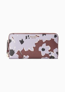 Kate Spade cameron floral bouquet large continental wallet