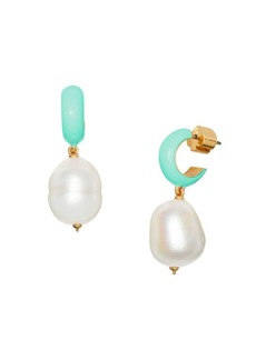 Kate Spade Candy Drops Pearl Drop Huggie Earrings